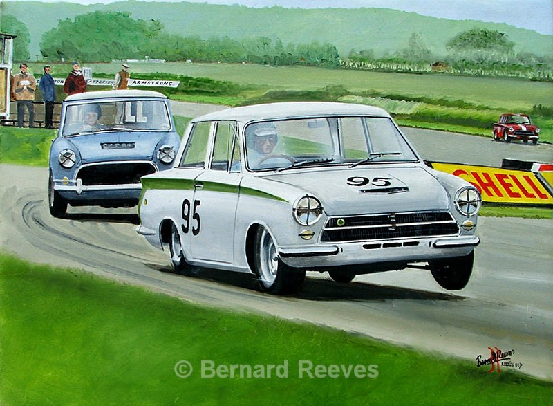 Jim Clarke in the Lotus Cortina Goodwood 1964 - Rally cars & drivers