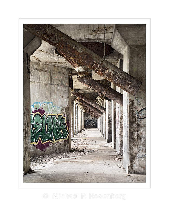 Silo Cone Progression, Concrete City, Buffalo NY - Silo City and Ward Water Plant, Buffalo NY