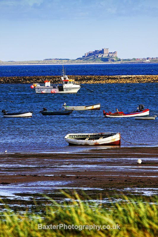Bamburgh From Lindisfarne Harbour - Northumberland