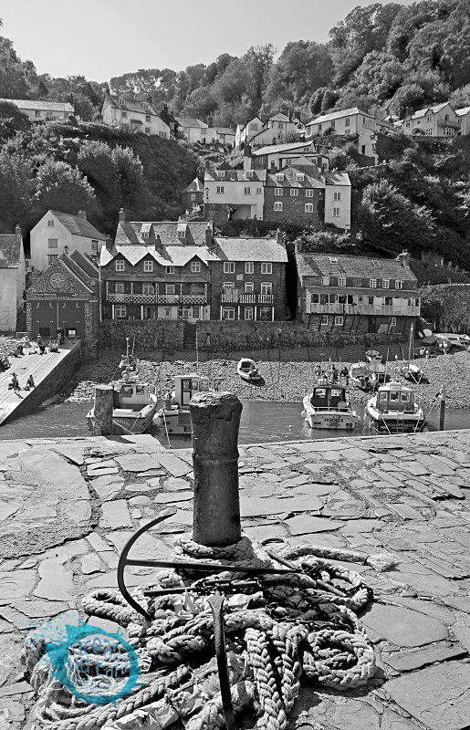 Clovelly B&W - Black and White