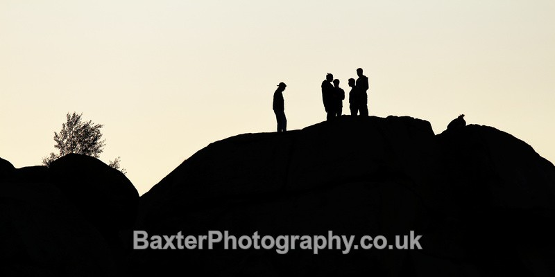 Standing on the Cow and Calf, silhouette - Views Around Harrogate: