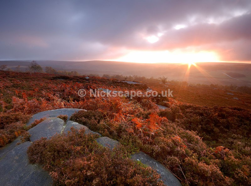 Autumn sunrise at Owler Tor   Peak District Photography Gallery