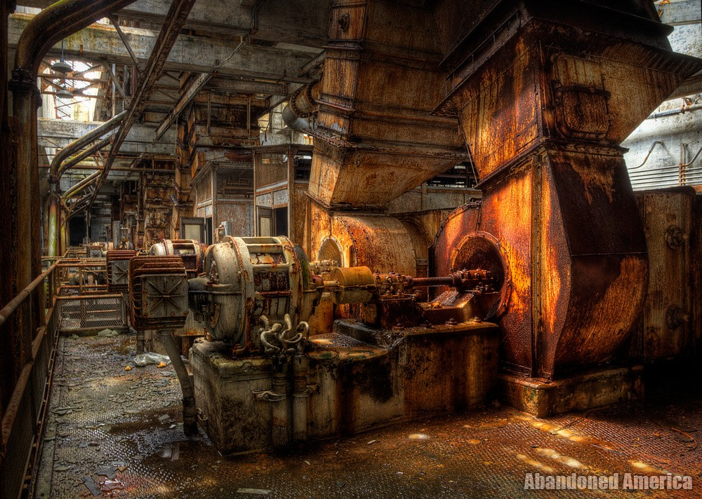 of forms assembled in the light - Portside Power Plant*