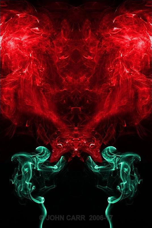 Green (Jade) Dragon Flame Rev - SMOKE ART( The Alien invasion) PHOTOS