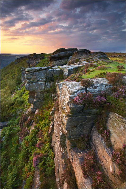 Curbar Edge Sunset - Peak District | Dark Peak