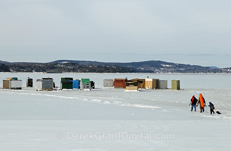 Just Heading Out - Ice Shacks