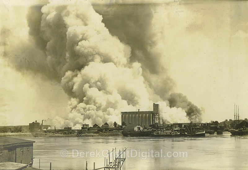 Waterfront Fire West Saint John June 22 1931 New Brunswick - Historic New Brunswick