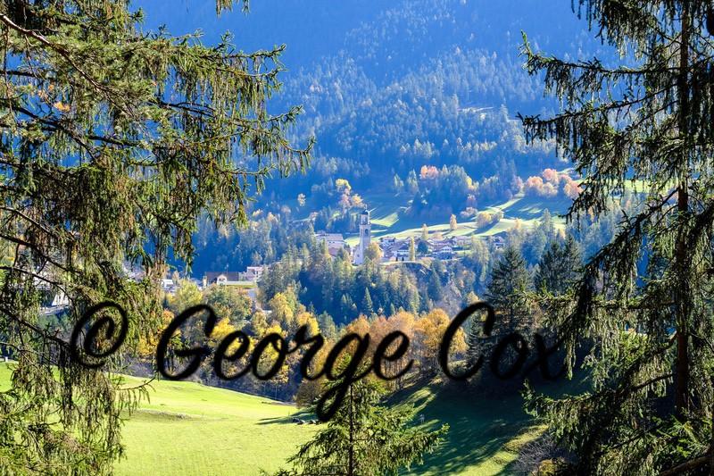 View to Church of St Stefan - Tiefencastel - Switzerland