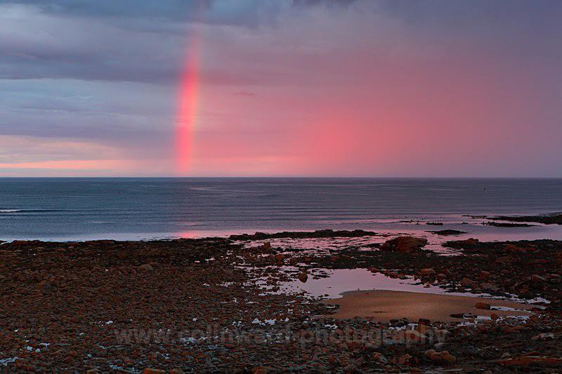 Sunset Rainbow, Cresswell, Northumberland     ref 0029 - Northumberland