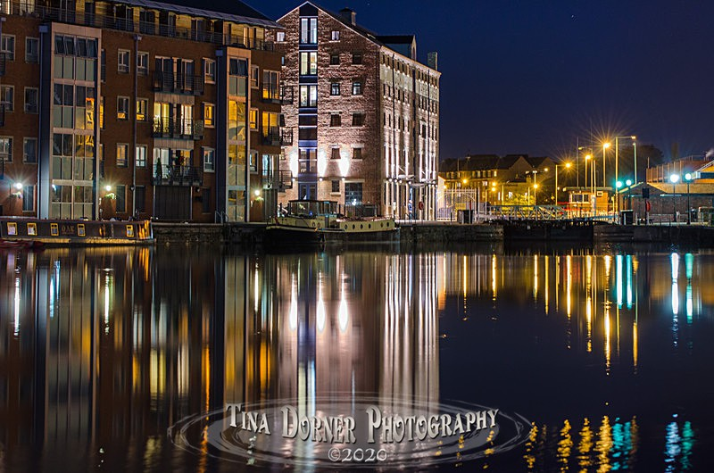 Gloucester Lock Night  at Gloucester Docks by Tina Dorner Photography