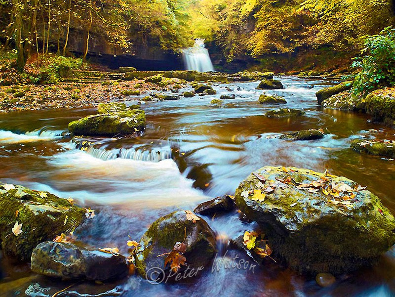 West-Burton-Yorkshire-Dales-England - Rivers & Waterfalls