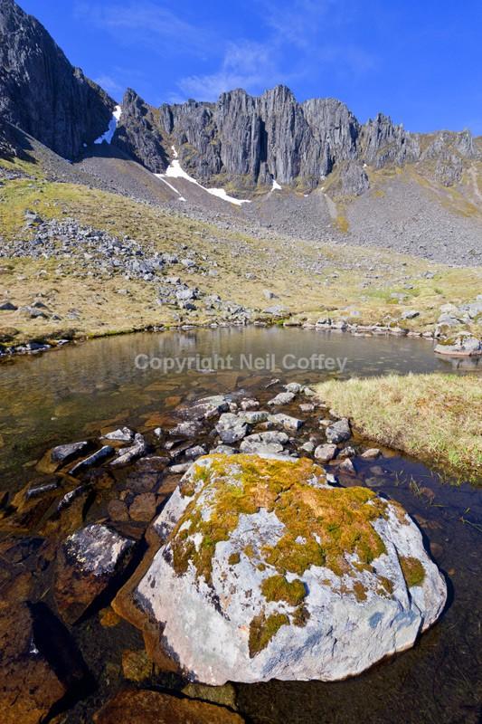 Central Buttress of Stob Coire nan Lochan, Glen Coe, Highland - Portrait format