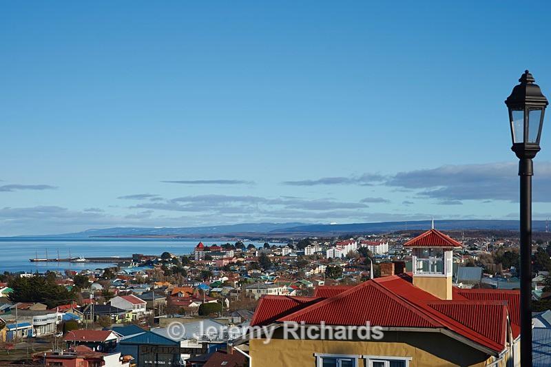 Looking over the  Strait of Magellan - Punta Arenas