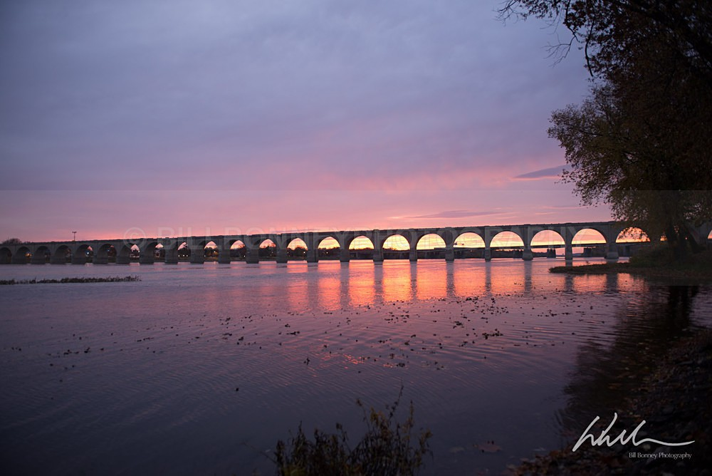Railroad Bridge before sunrise - Harrisburg Area, Pennsylvania