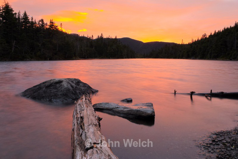 Sunset at Sterling Pond - Vermont & Long Trail