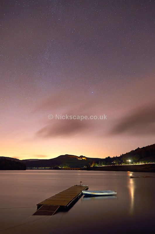 Night Sky and Stars at Ladybower Reservoir - Peak District, UK - Peak District Landscape Photography Gallery