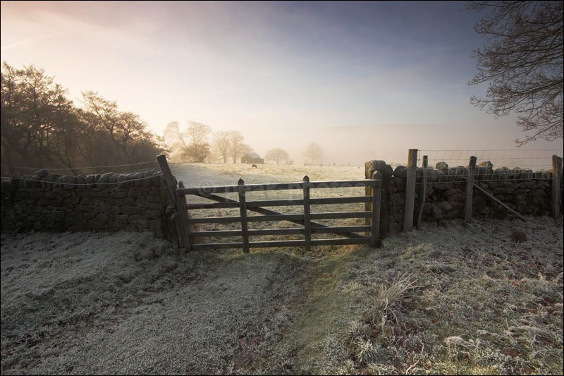 Gate to the Farm - Peak District Winter