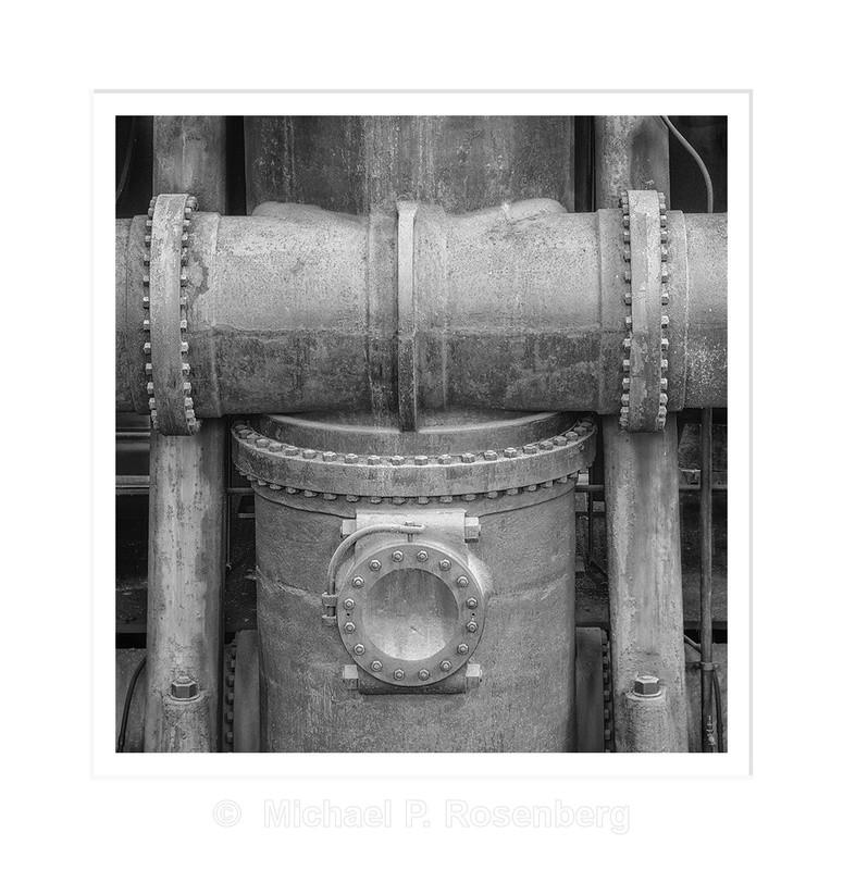 Water Pump and Pipe, Ward Pumping Plant, Buffalo NY - Silo City and Ward Water Plant, Buffalo NY