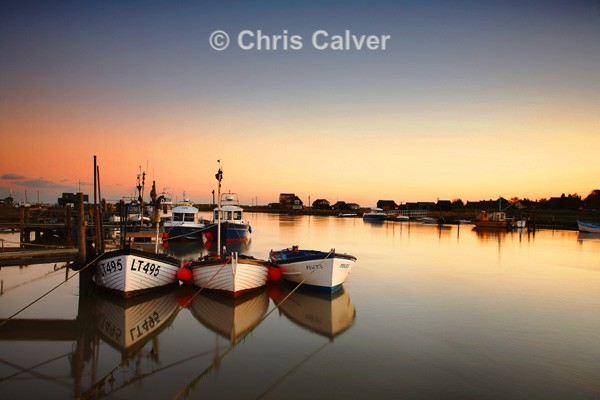 Sunset Reflections - Suffolk Coastal Scenes