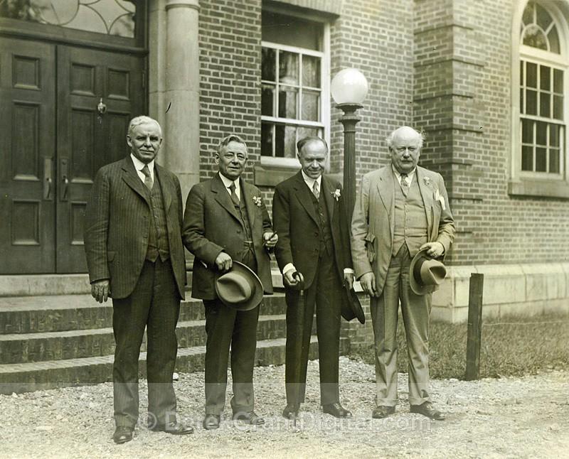 Lord Beaverbrook Entourage - UNB 1931 Fredericton Canada - Historic New Brunswick