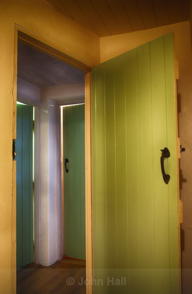 Coloured Doors In An Irish Cottage.