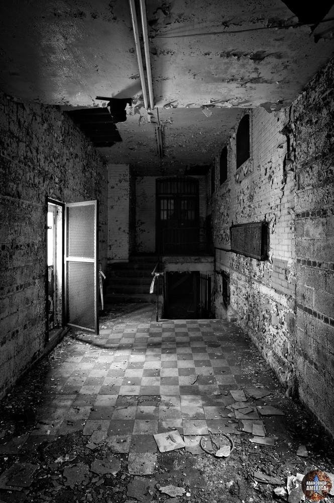 Checkered floor, Holmesburg Prison, Philadelphia PA | Abandoned America by Matthew Christopher