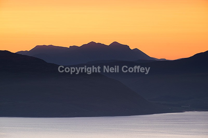 Liathach across Inner Sound from Dun Caan, Isle of Raasay - Landscape format