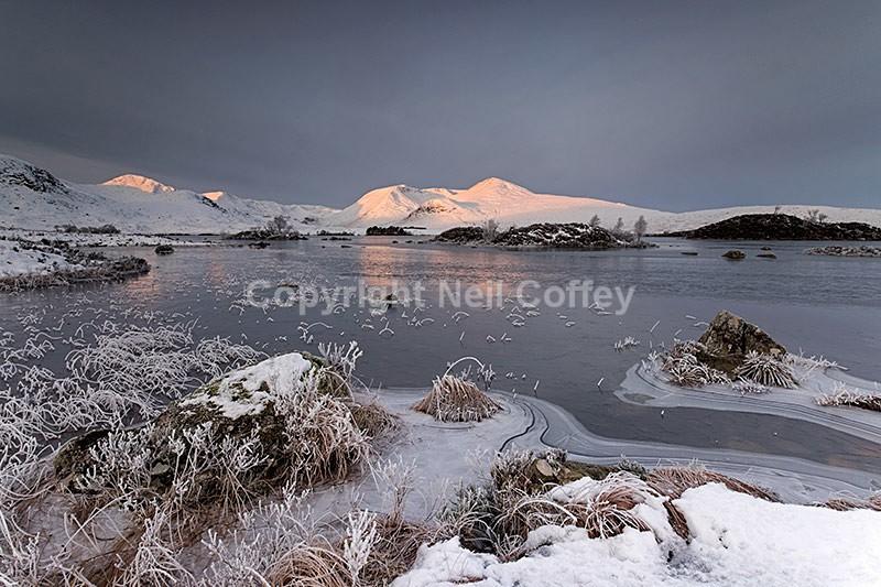The Black Mount, Lochan na hAchlaise, Rannoch Moor, Highland - Landscape format