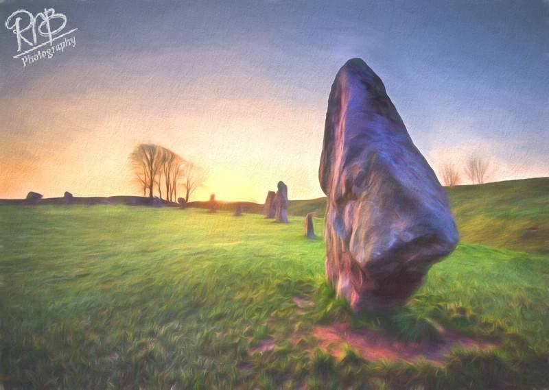 Avebury Morning - Digital Paintings