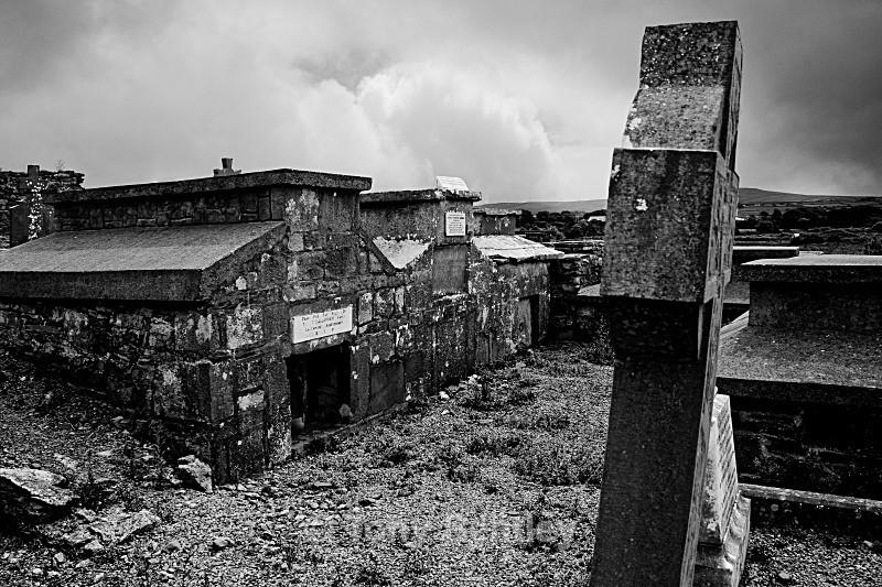Irish Graveyard - Monochrome