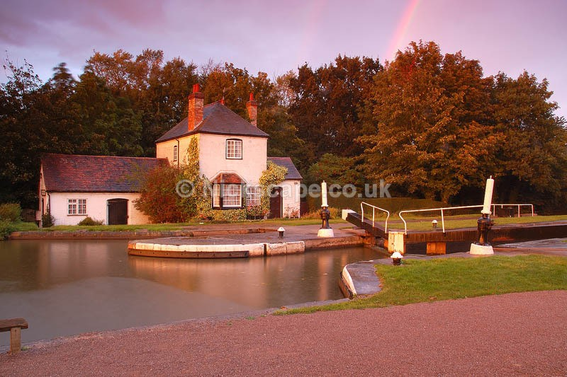 Stormy afternoon at Lock Cottage at Lower Hatton Locks