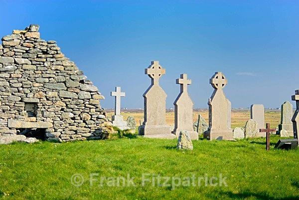 Nunton cemetery, Island of Benbecula, Outer Hebrides, Scotland. - Benbecula