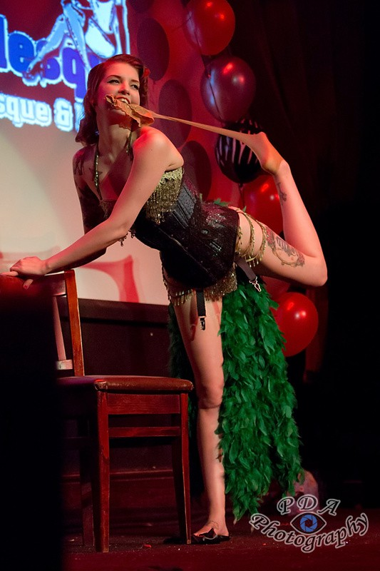 47 Millie Dollar in Burlesque Show Born to be Wild