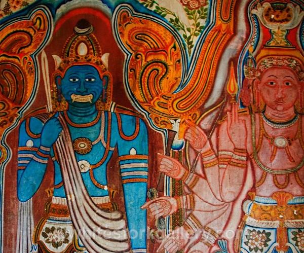 Mulgirigalla Temple Painting, Sri Lanka - Asia