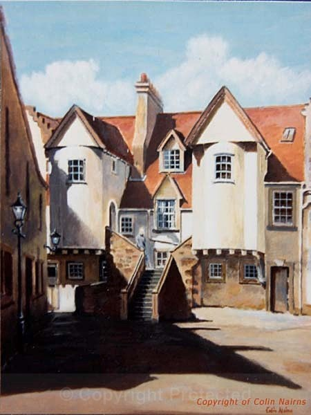 'White Horse Close, Edinburgh' - Edinburgh Paintings
