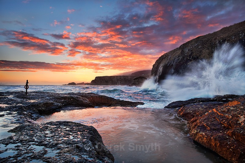 Beautiful Sunrise at Ballintoy on the North Antrim Coast