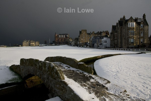 The Old Course - Snow on The Old Course 2013
