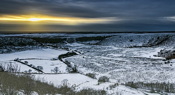 Horcum Sunset - Snow Scene's /Winter