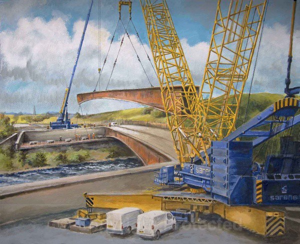 Auchenshuggle Bridge over The Clyde - Commissioned Work