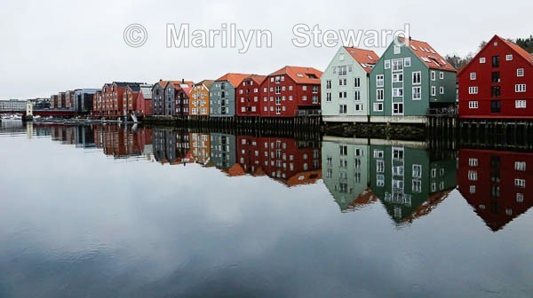 Trondheim wharfside houses - Norway Coast