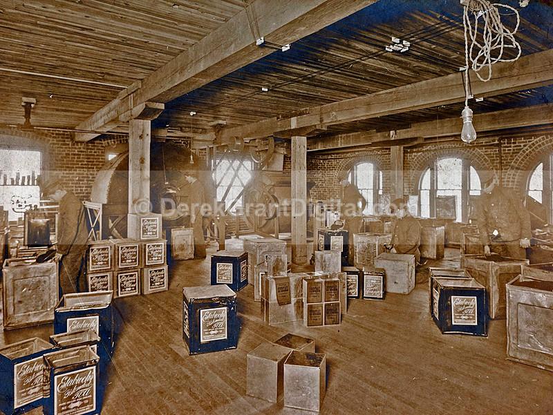 T.H. Estabrooks Company Blended Tea St. John NB Interior Red Rose - Historic New Brunswick