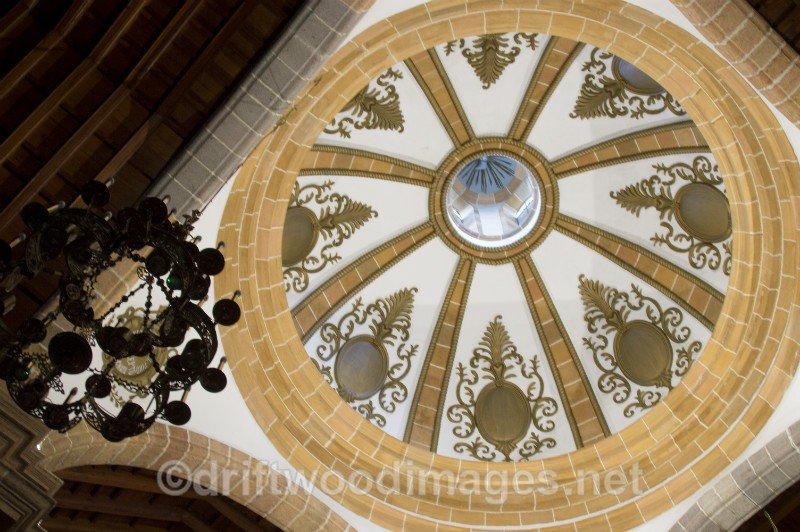 Gran Canaria Aruca cathedral interior dome - Gran Canaria