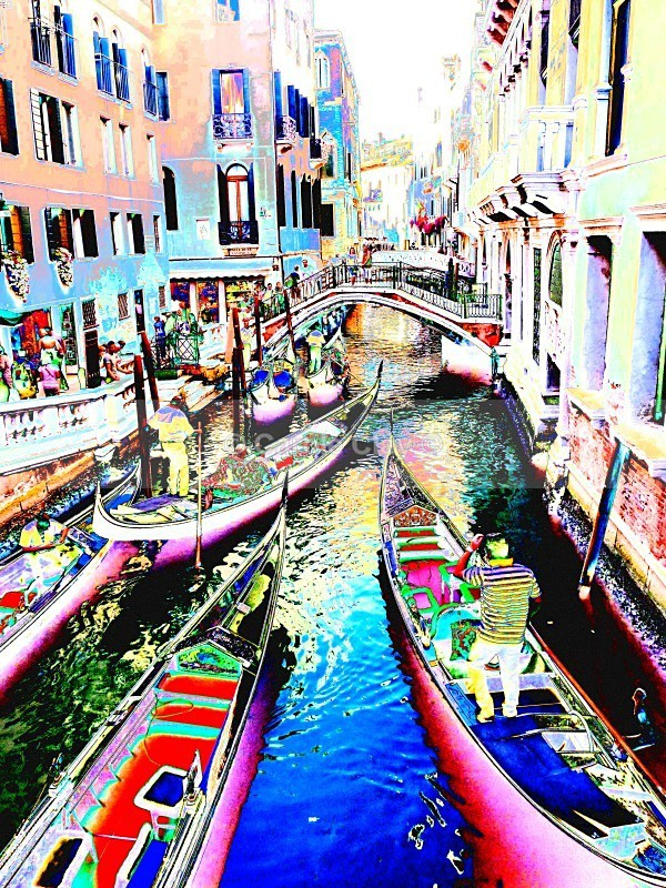 Daytime Gondolas - Venice