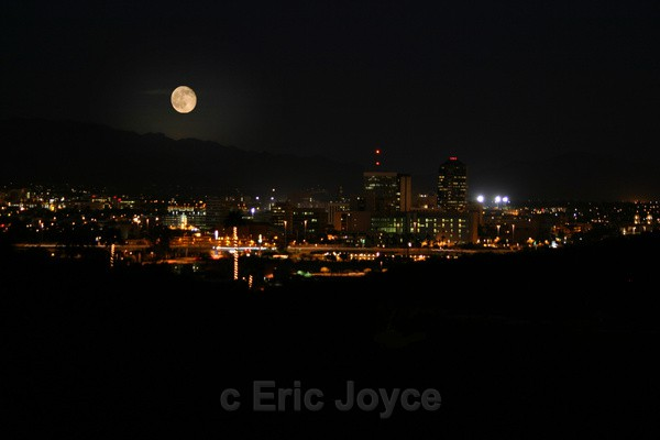 Moonrise on Tucson - Tuscon, Arizona