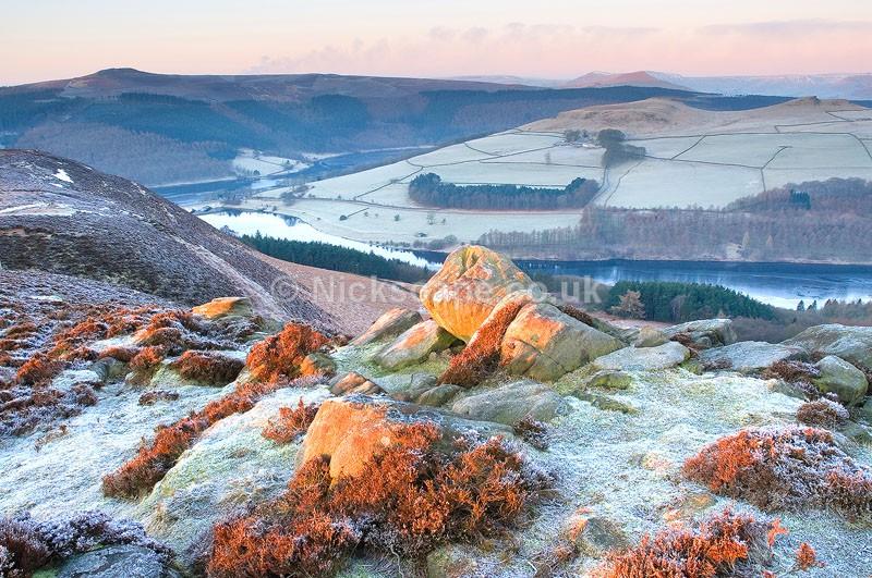 Dawn at Whinstone Lee Tor overlooking Ladybower | Peak District Gallery
