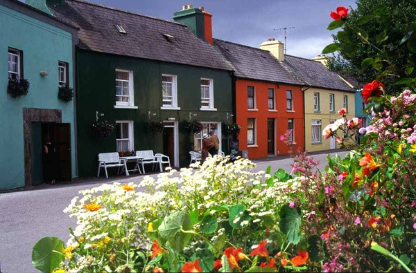 colourful houses at eyeries village,beara,co. cork,ireland