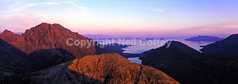 Bla Bheinn & The Red Cuillin from Marsco, Isle Of Skye - Panoramic format