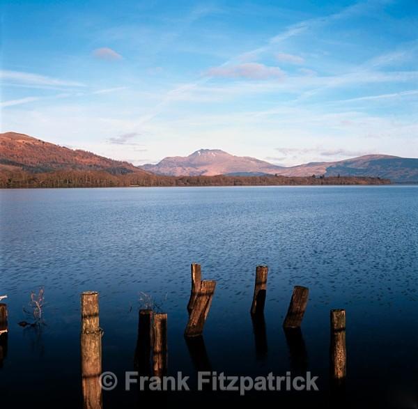 Ben Lomond from Inchmurrin Island, Loch Lomond, Strathclyde, Scotland. - Scottish scenics