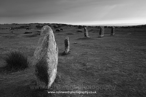 Hurlers stone circle            ref 2612 - Cornwall