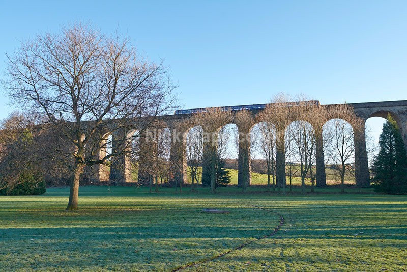 View of the Penistone Viaduct with Northern Rail Train - Yorkshire